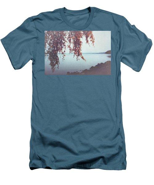 Men's T-Shirt (Slim Fit) featuring the photograph Autumn Shore by Ari Salmela