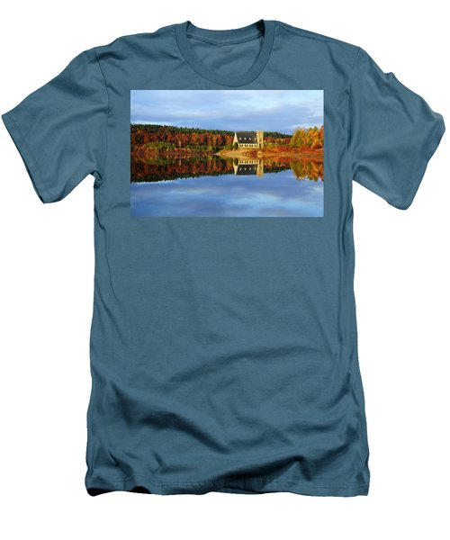 Autumn Sunrise At Wachusett Reservoir Men's T-Shirt (Athletic Fit)
