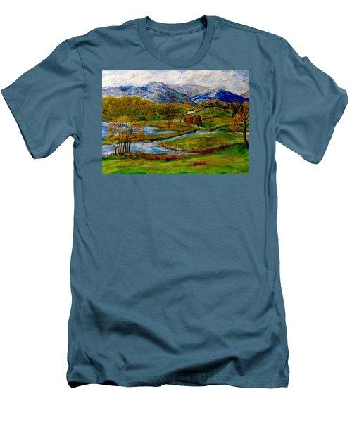 Autumn View Of The Trossachs Men's T-Shirt (Athletic Fit)