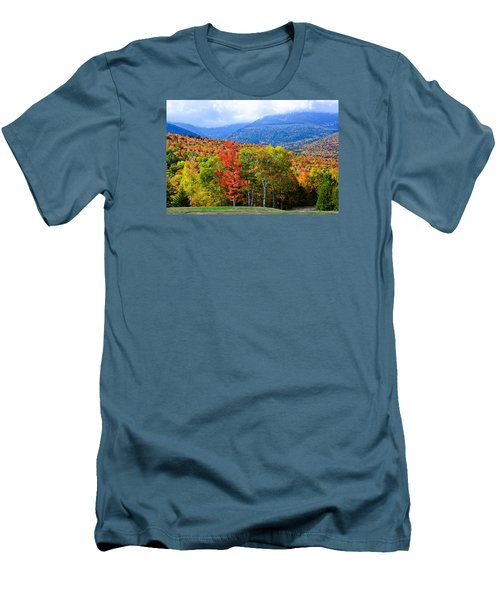 Autumn White Mountains Nh Men's T-Shirt (Slim Fit) by Michael Hubley