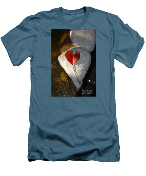 Men's T-Shirt (Slim Fit) featuring the photograph Autumn's Love And Serenity by Debra Thompson