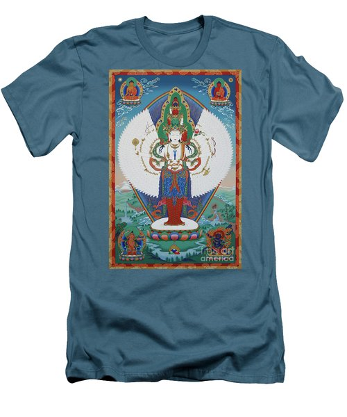 Avalokiteshvara Lord Of Compassion Men's T-Shirt (Slim Fit) by Sergey Noskov