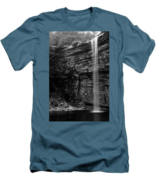 Awosting Falls In Spring #4 Men's T-Shirt (Slim Fit) by Jeff Severson