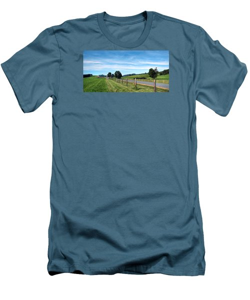 Ayrhill Farm Panoramic - The Berkshires Men's T-Shirt (Athletic Fit)