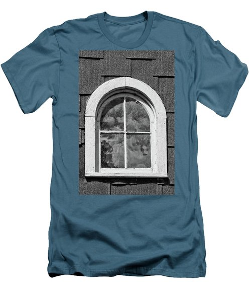 Men's T-Shirt (Slim Fit) featuring the photograph Babcock Window 2273 by Guy Whiteley