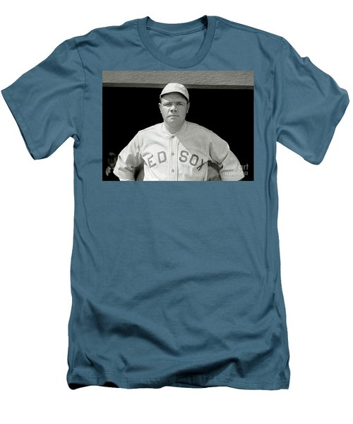 Babe Ruth Red Sox Men's T-Shirt (Slim Fit) by Jon Neidert