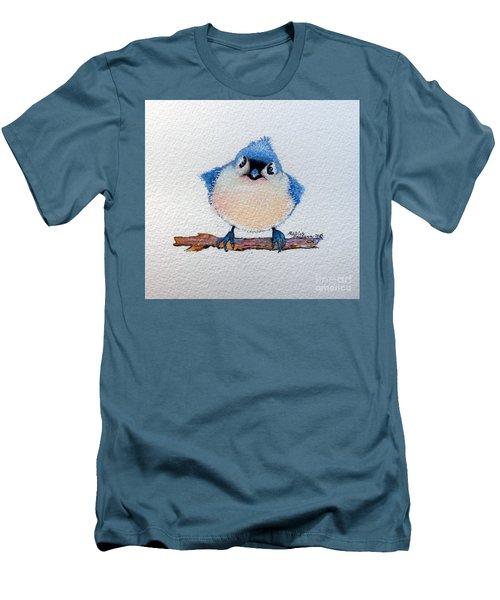 Baby Bluebird Men's T-Shirt (Slim Fit) by Marcia Baldwin