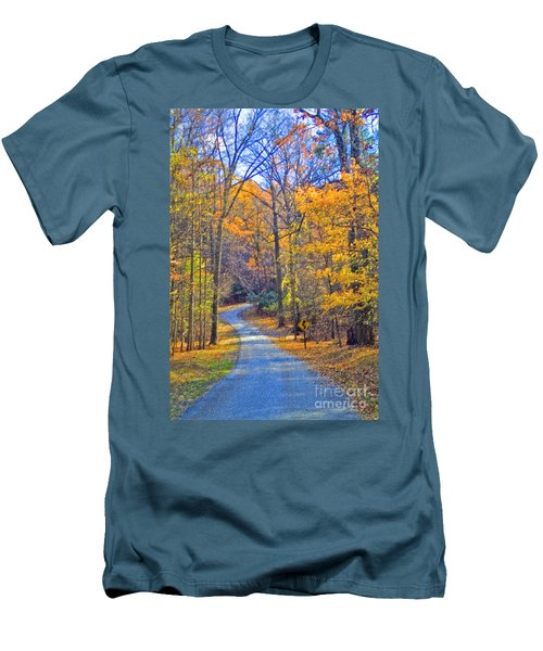 Men's T-Shirt (Slim Fit) featuring the photograph Back Road Fall Foliage by David Zanzinger