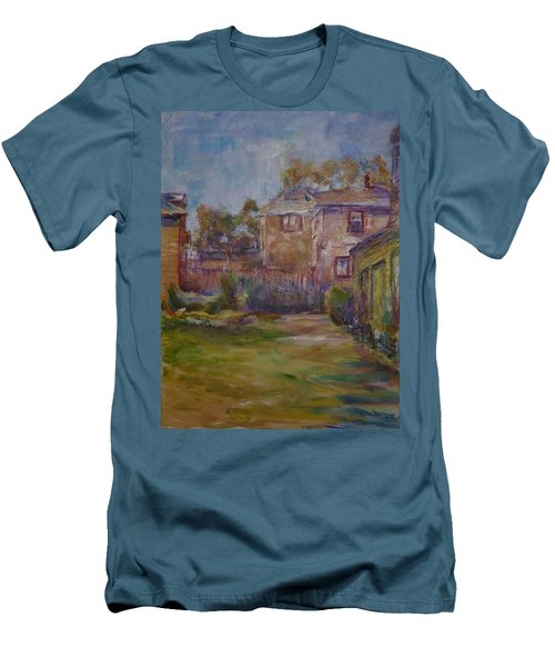 Backyard Impressions Men's T-Shirt (Slim Fit) by Helen Campbell