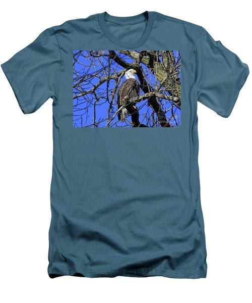 Men's T-Shirt (Slim Fit) featuring the photograph Bald Eagle by Paula Guttilla