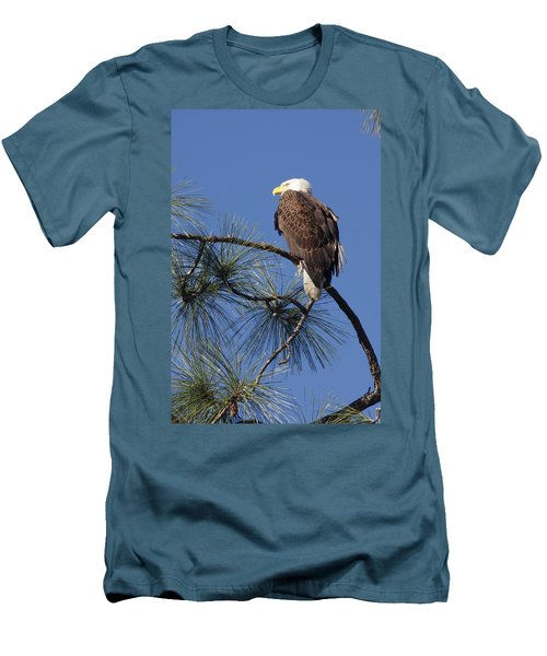 Men's T-Shirt (Slim Fit) featuring the photograph Bald Eagle by Sally Weigand