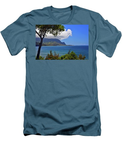 Bali Hai Hawaii Men's T-Shirt (Slim Fit) by Marie Hicks