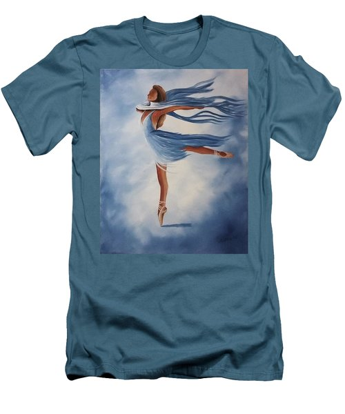 Men's T-Shirt (Slim Fit) featuring the painting Ballerina by Edwin Alverio