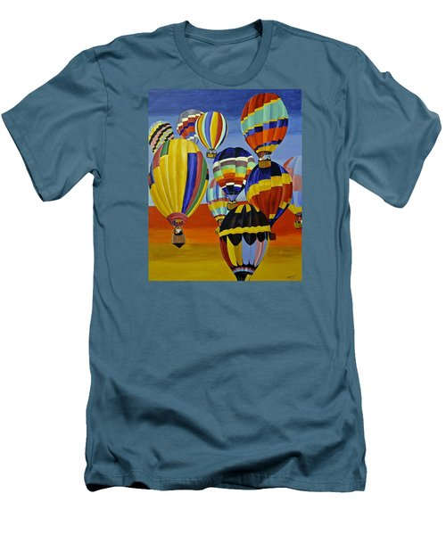 Balloon Expedition Men's T-Shirt (Slim Fit) by Donna Blossom