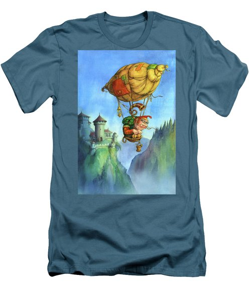 Balloon Ogre Men's T-Shirt (Slim Fit) by Andy Catling