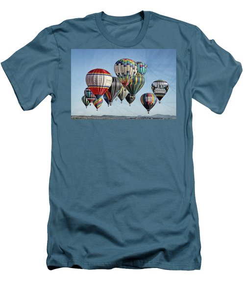 Men's T-Shirt (Slim Fit) featuring the photograph Ballooning by Marie Leslie