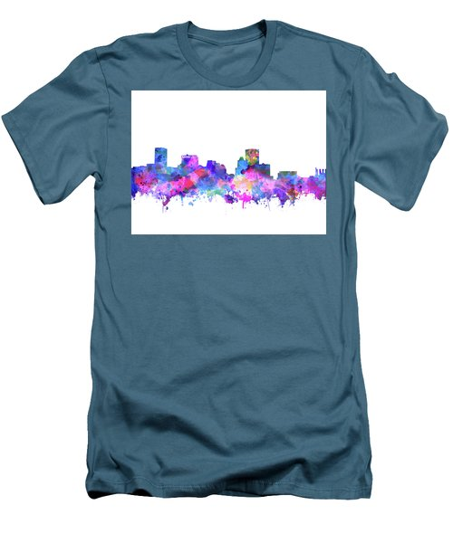 Men's T-Shirt (Slim Fit) featuring the painting Baltimore Skyline Watercolor 4 by Bekim Art