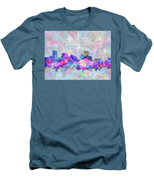 Men's T-Shirt (Slim Fit) featuring the painting Baltimore Skyline Watercolor 6 by Bekim Art