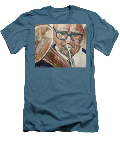 Band Man Men's T-Shirt (Slim Fit) by Marty Garland