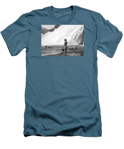 Barefoot In Wilderness Men's T-Shirt (Athletic Fit)