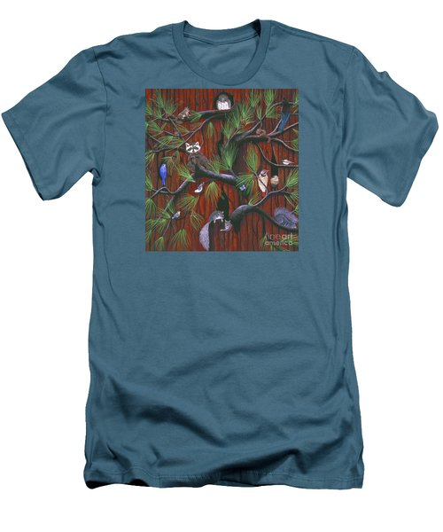 Men's T-Shirt (Slim Fit) featuring the painting Bark by Jennifer Lake