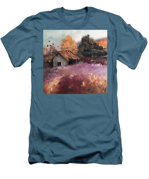 Barn And Birds  Men's T-Shirt (Slim Fit) by Michele Carter