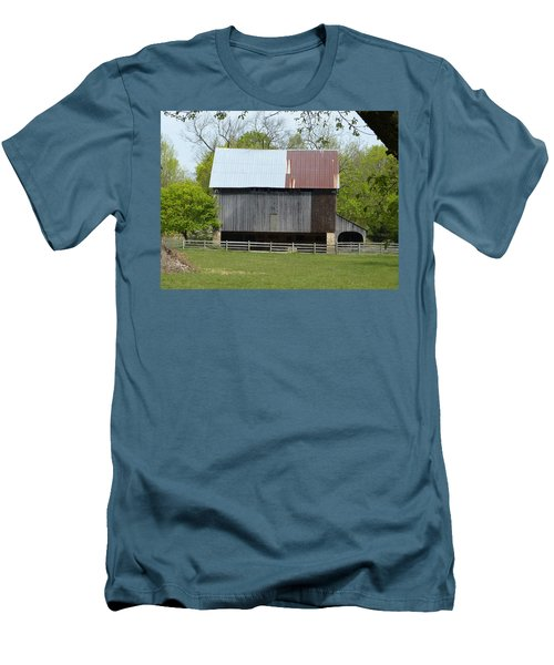 Men's T-Shirt (Slim Fit) featuring the photograph Barn Of Fair Hill by Donald C Morgan