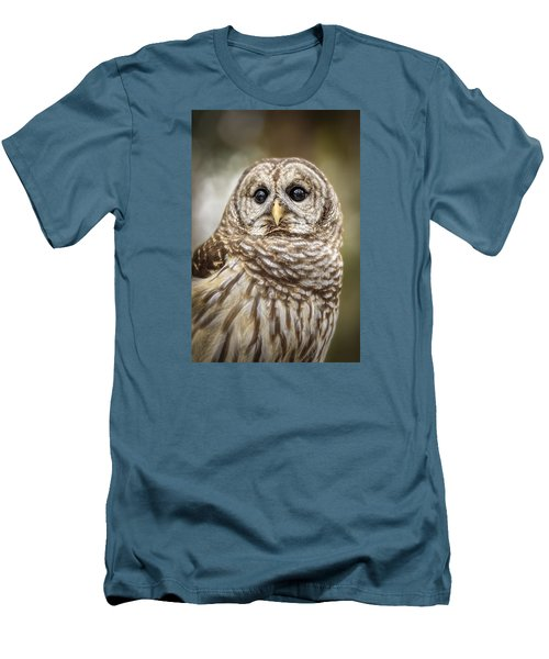Men's T-Shirt (Athletic Fit) featuring the photograph Hoot by Steven Sparks