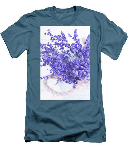 Basket Of Lavender Men's T-Shirt (Athletic Fit)