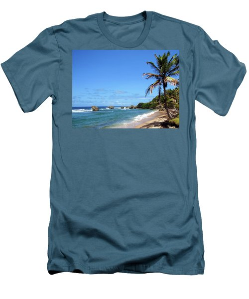 Men's T-Shirt (Slim Fit) featuring the photograph Bathsheba, Barbados, by Kurt Van Wagner