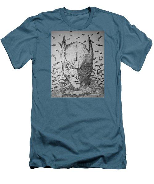 Batman Flight Men's T-Shirt (Slim Fit) by Tamyra Crossley