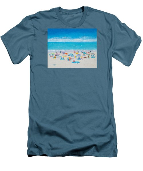 Beach Art - Fun In The Sun Men's T-Shirt (Slim Fit) by Jan Matson