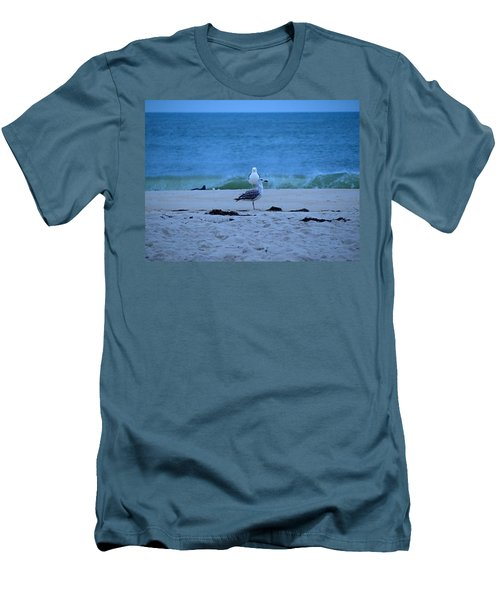 Men's T-Shirt (Slim Fit) featuring the photograph Beach Birds by  Newwwman
