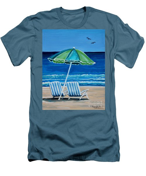 Beach Chair Bliss Men's T-Shirt (Athletic Fit)