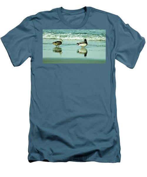 Beach Ducks Men's T-Shirt (Slim Fit) by John Wartman