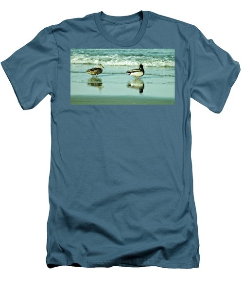 Beach Ducks Men's T-Shirt (Athletic Fit)