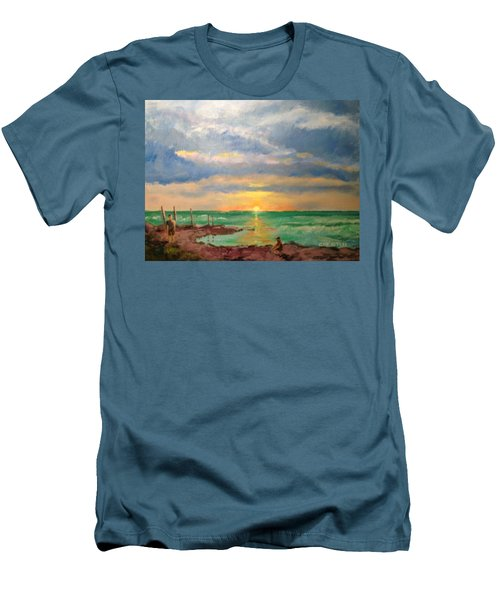 Beach End Of Day Men's T-Shirt (Athletic Fit)