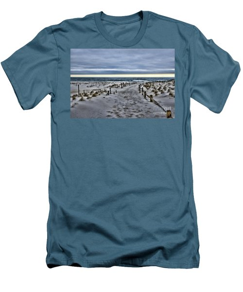 Beach Entry Men's T-Shirt (Slim Fit) by Paul Ward