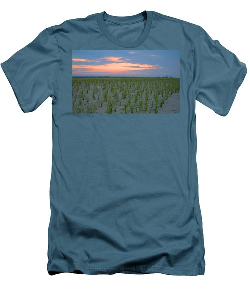 Men's T-Shirt (Slim Fit) featuring the photograph Beach Grass Farm by  Newwwman