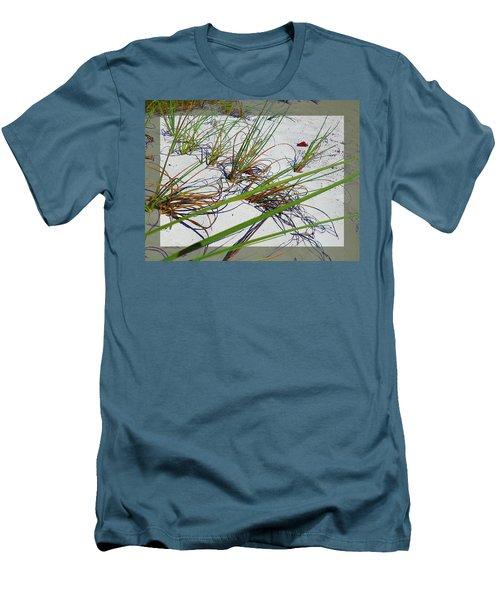 Beach Grass Men's T-Shirt (Slim Fit) by Ginny Schmidt