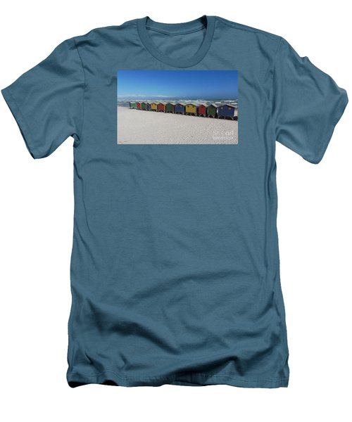 Beach Houses Men's T-Shirt (Slim Fit) by Bev Conover