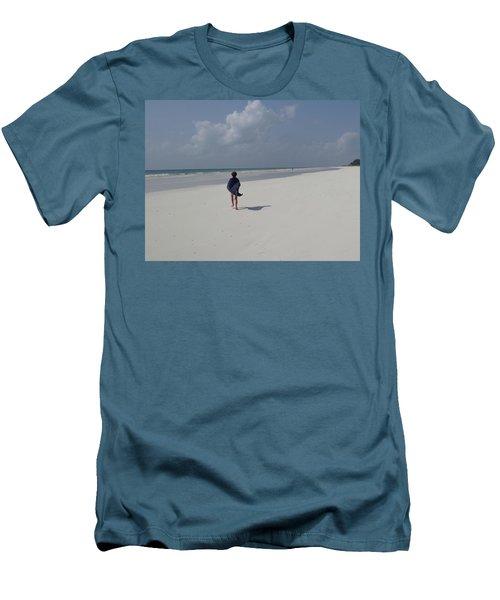 Beach Run Men's T-Shirt (Athletic Fit)