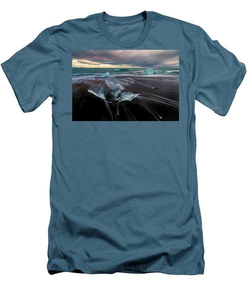 Men's T-Shirt (Slim Fit) featuring the photograph Beach Stranded by Allen Biedrzycki