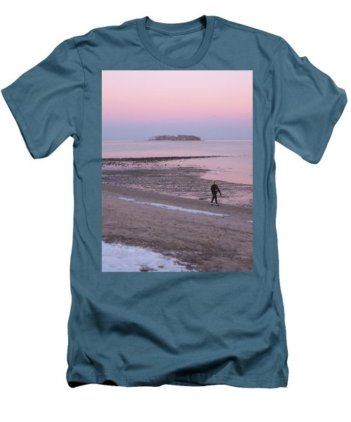 Men's T-Shirt (Slim Fit) featuring the photograph Beach Stroll by John Scates