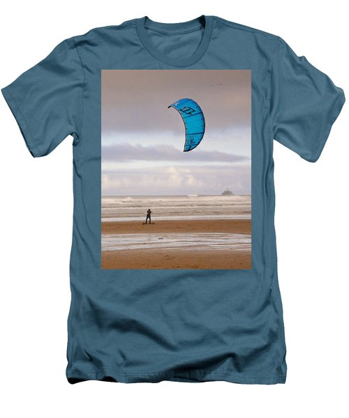 Men's T-Shirt (Slim Fit) featuring the photograph Beach Surfer by Wendy McKennon