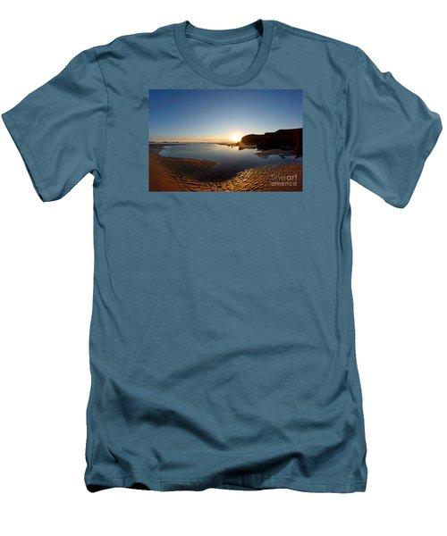 Beach Textures Men's T-Shirt (Athletic Fit)
