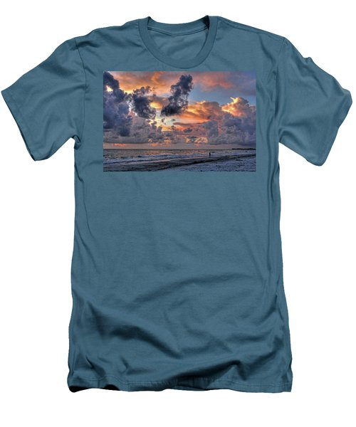 Beach Walk - Florida Seascape Men's T-Shirt (Athletic Fit)