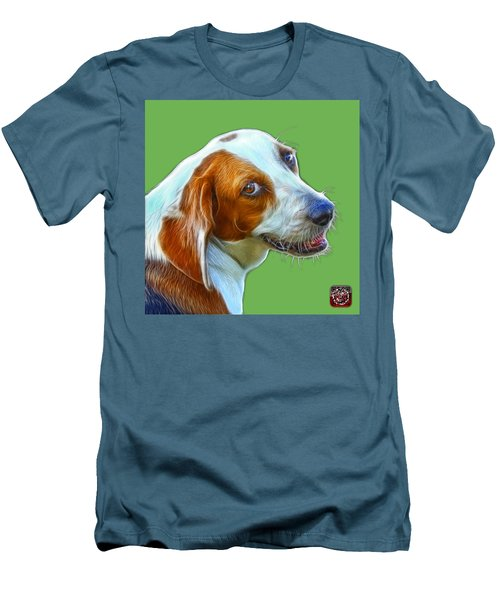 Beagle Dog Art- 6896 -wb Men's T-Shirt (Athletic Fit)