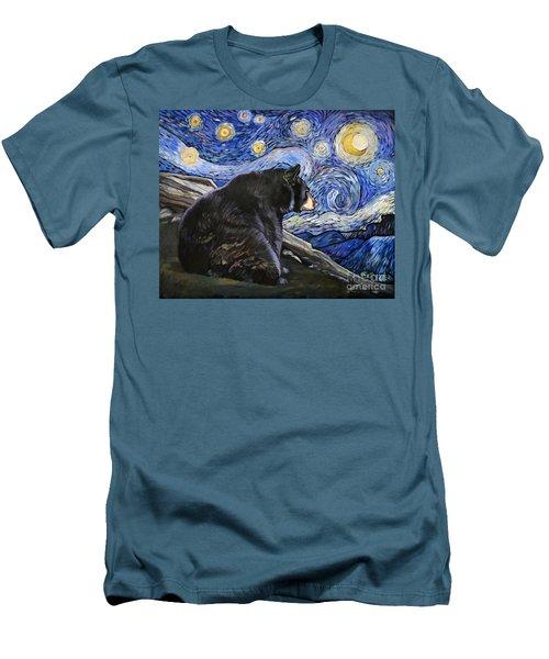 Beary Starry Nights Men's T-Shirt (Slim Fit) by J W Baker