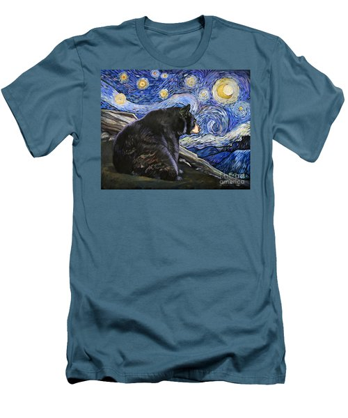 Beary Starry Nights Men's T-Shirt (Athletic Fit)